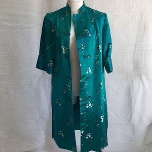 Vintage Kimono Coat Embroidered Satin from China